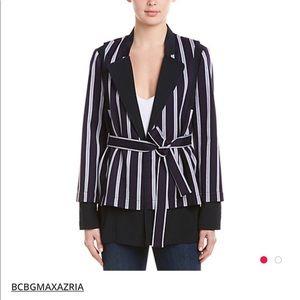 NWOT BCBG striped navy jacket